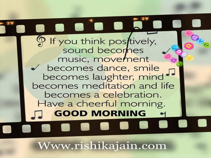 Good Morning Positive Thinking Beautiful Quotes I