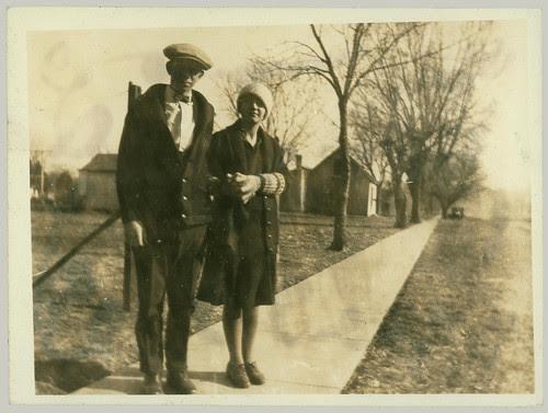 Couple on sidewalk
