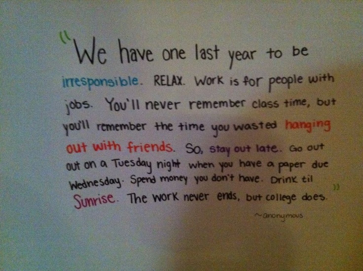 Quotes About Senior Year In College 53 Quotes