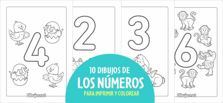Aprende Los Números Del 1 Al 10 Con Estos Dibujos Para Imprimir Y