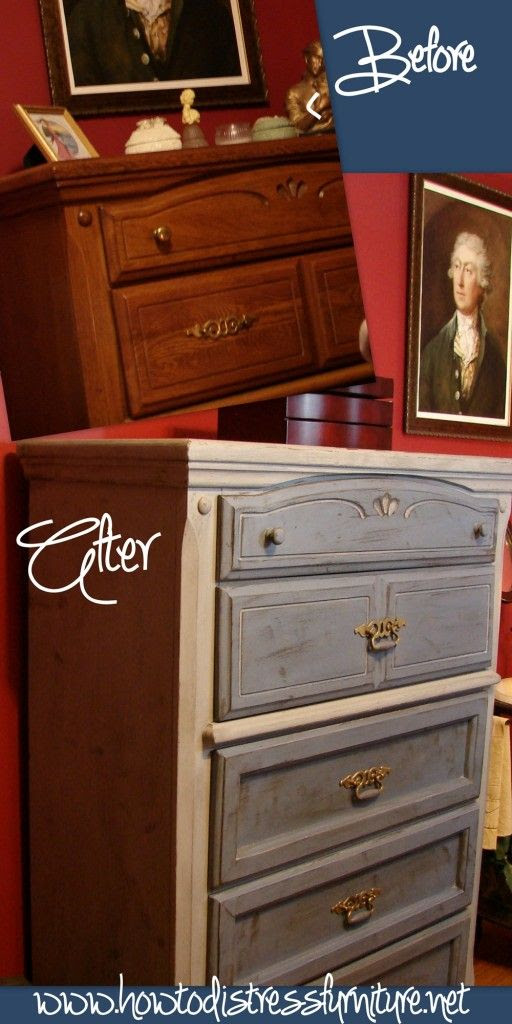 Distressed Gray Bedroom Chest | How To Distress Furniture | Distressed Furniture Tutorials