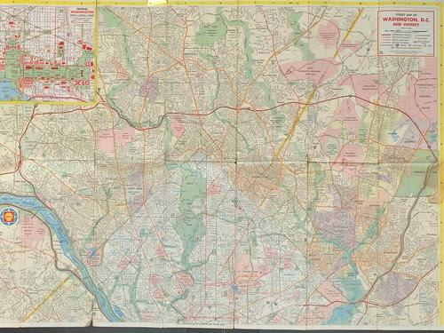 Washington DC Shell Oil map, 1966