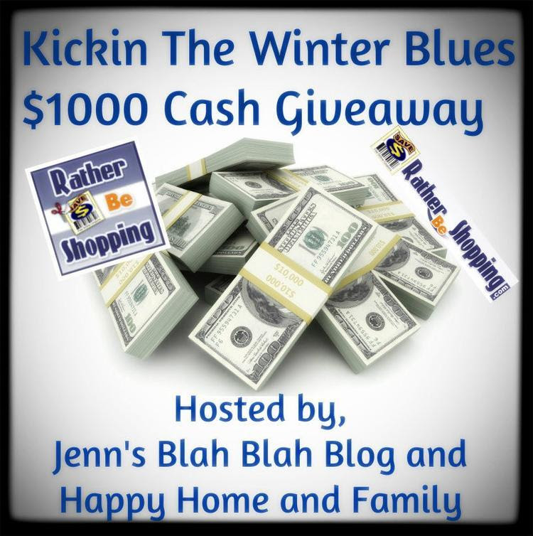 Kickin the Winter Blues $1000 Cash Giveaway