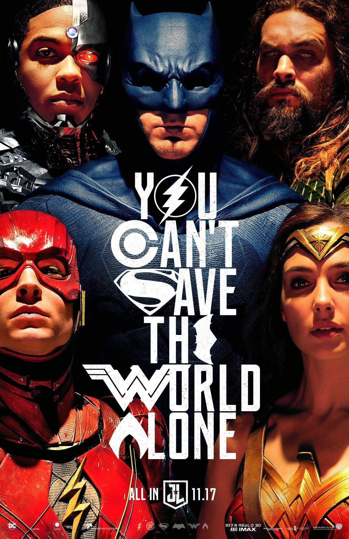 Novo Poster De Liga Da Justica Reforca A Uniao Entre Os Herois
