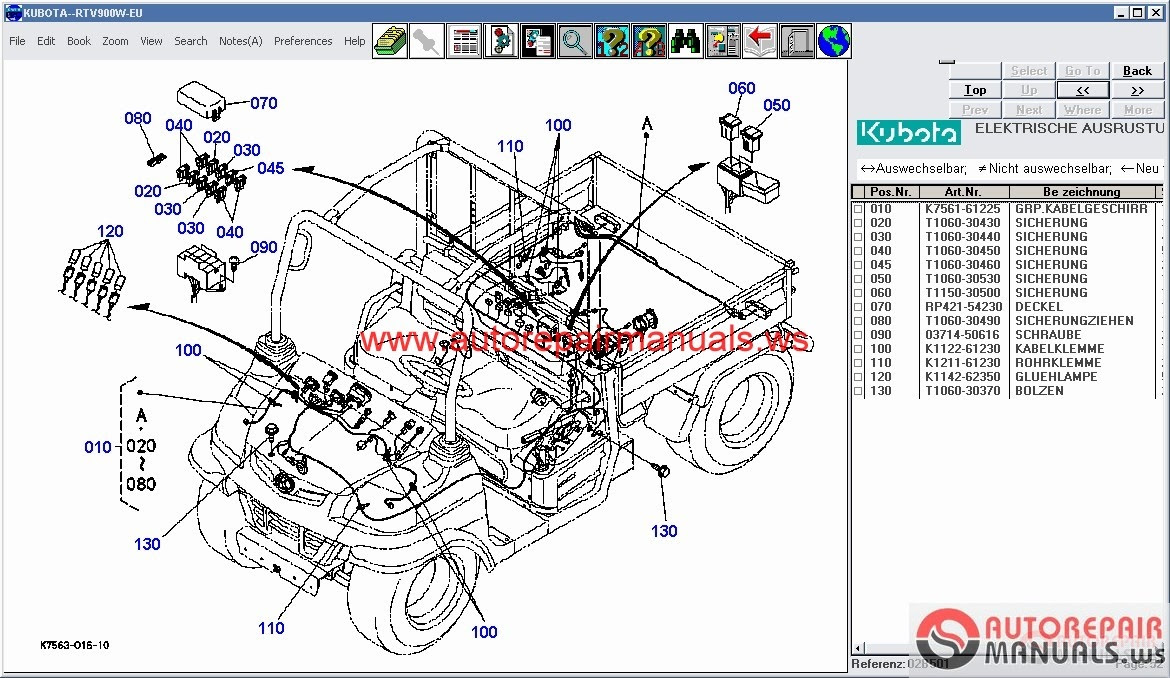 free auto repair manual kubota tractors construction