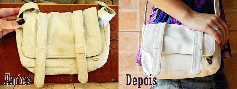 montagem antes e depois volta as aulas juliana leite blog como lavar a bolsa mochila da faculdade escola trabalho sabão azul, esfregar com escovão e enchaguar bem