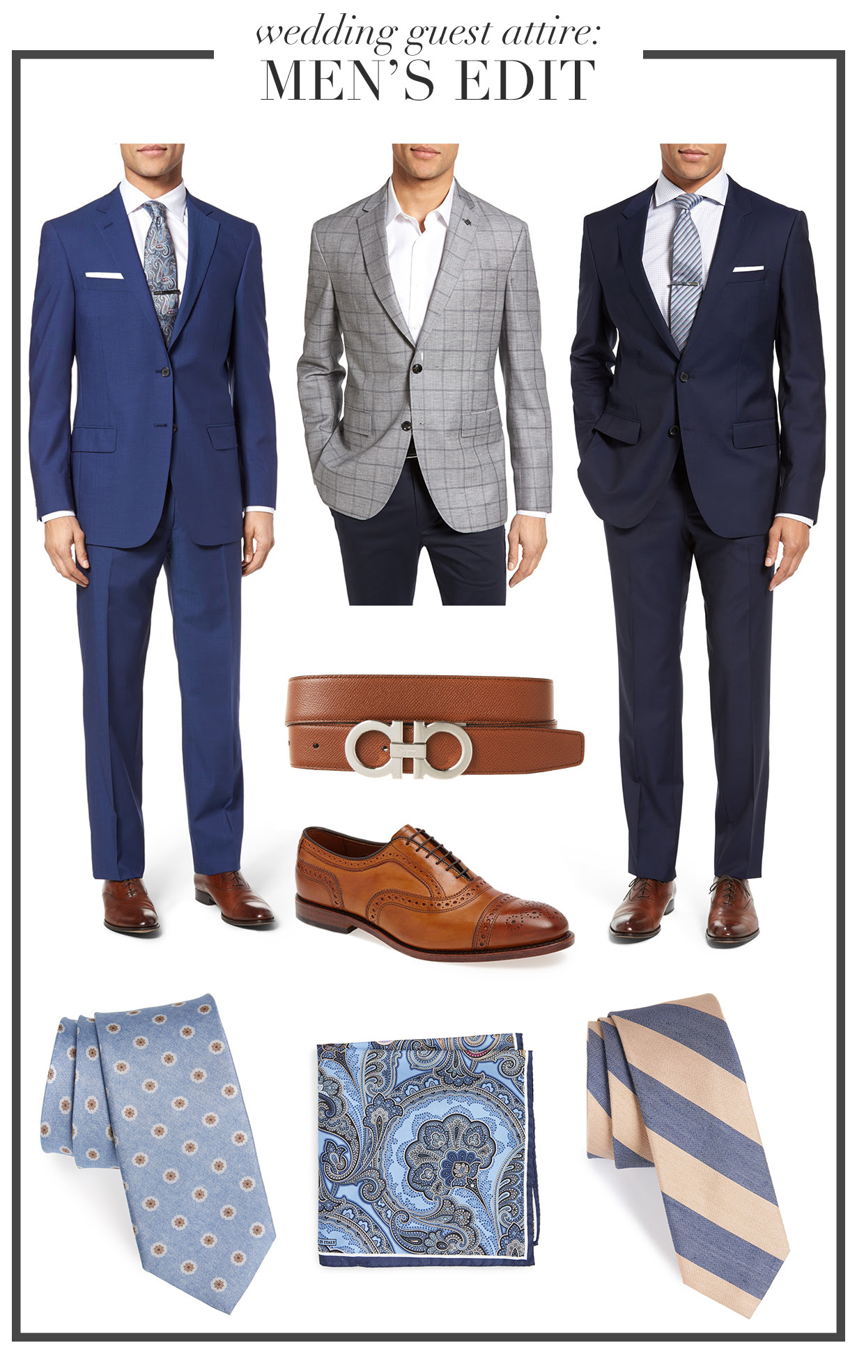 wedding wednesday men's edit  bonjour blue