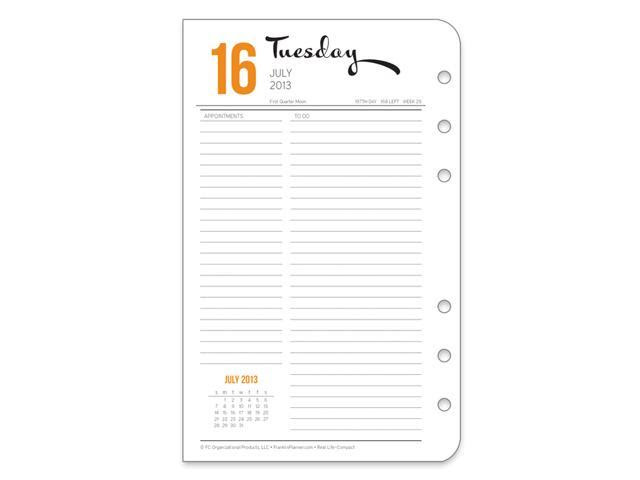 Compact Real Life Adventures Ring-bound Daily Planner Refill - Jul ...