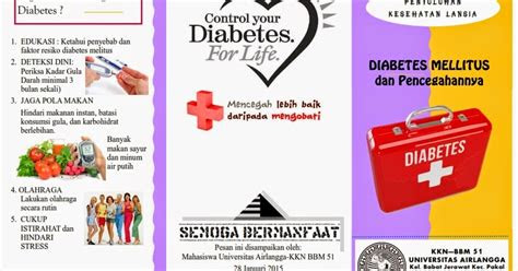 kumpulan materi kebidanan leaflet diabetes mellitus