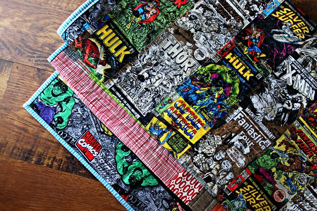 Marvel Comic Quilt Back