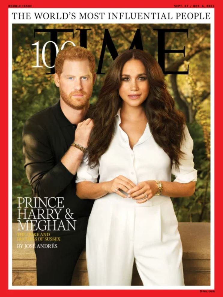 Prince Harry and Meghan Markle cover TIME as two of their Most Influential People released on Prince Harry's b