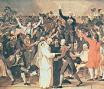 "Representación del  ""Juramento de la Pelota. Por Jacques-Louis David"