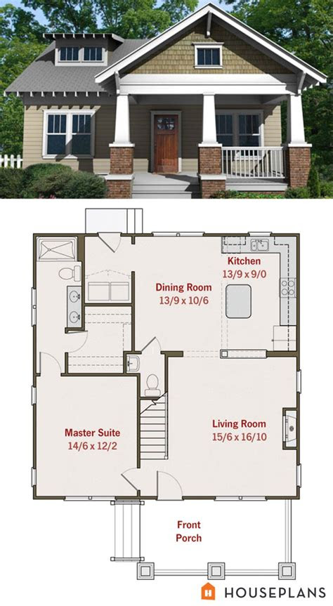 small craftsman bungalow floor plan  elevation house