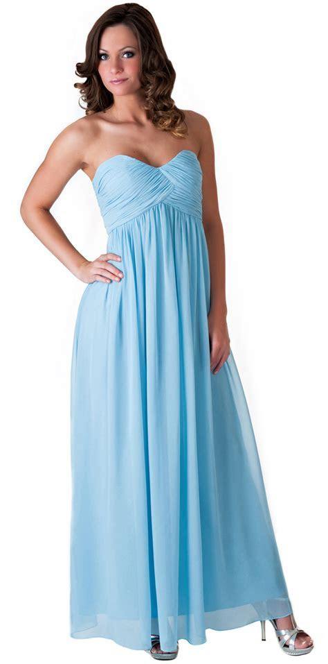 Formal Dress Full Length Evening Gown Bridesmaid Wedding