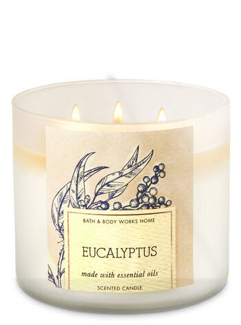 Eucalyptus 3-Wick Candle - Bath And Body Works