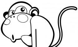 Sevimli Maymun Boyama Sayfası