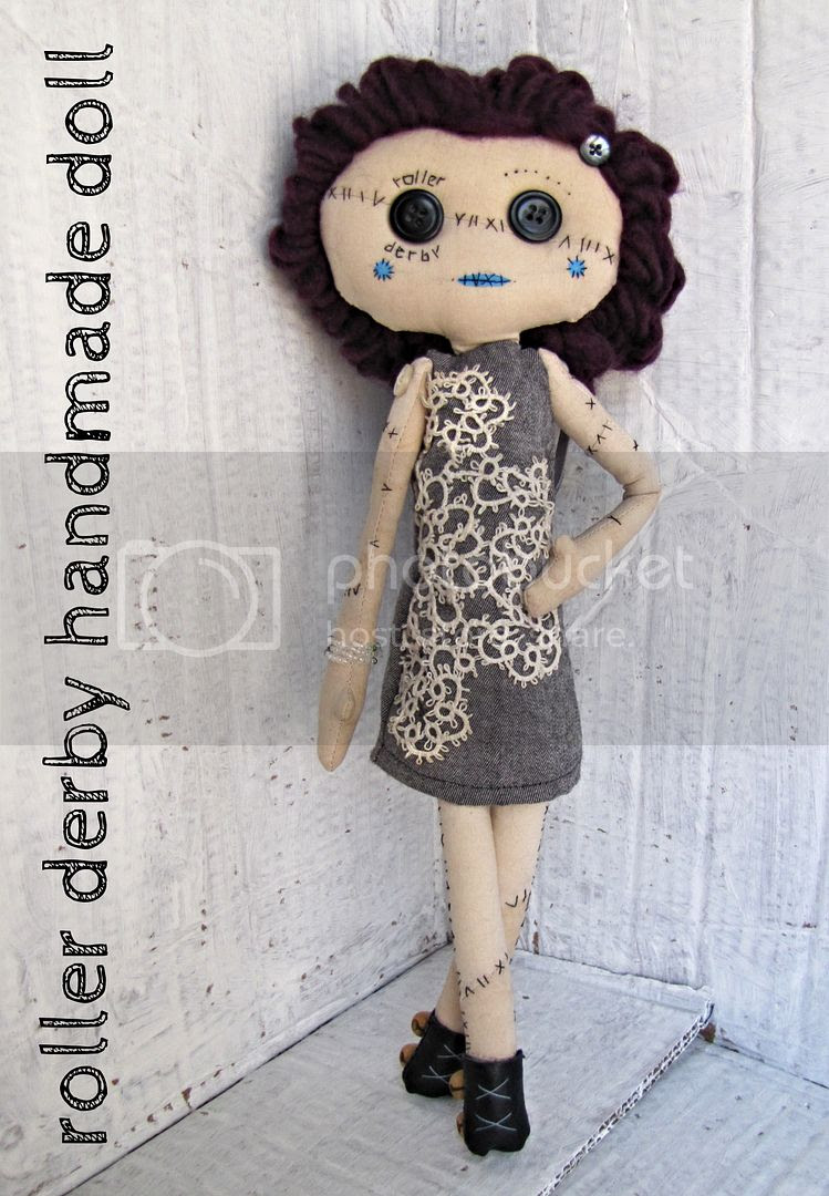 roller derby handmade doll by Indietutes photo 9c972ad1-0205-4c38-80f1-72d844630144.jpg