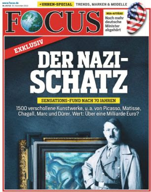 Revealed: The art was discovered in 2011 but kept secret. Today German Focus magazine reported it