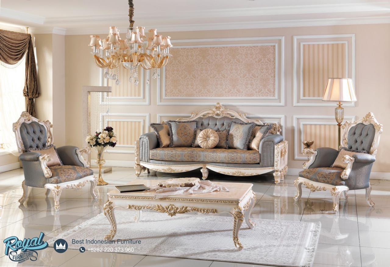 Set Sofa Tamu Mewah Europe Klasik Model Furniture Mewah Terbaru