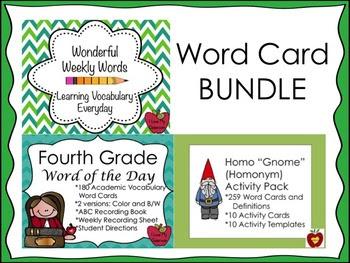 Word BUNDLE {Homonym, Word of the Day, and Wonderful Weekl