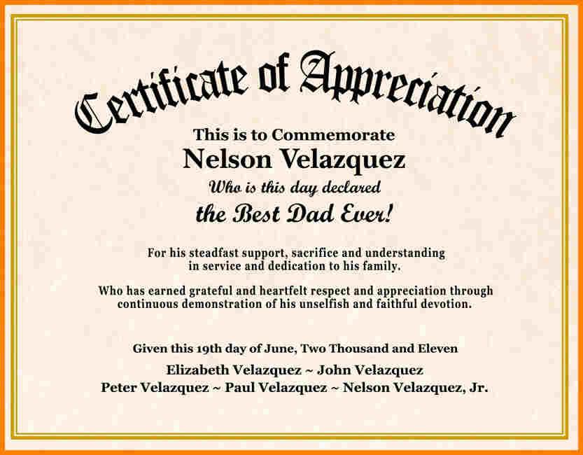 Certificate Wording - certificates templates free