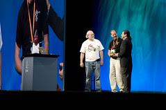 "Mark Gerhard, Jonathan Schwartz and James Gosling, General Session ""Java: Change (Y)Our World"" on June 2, JavaOne 2009 San Francisco"