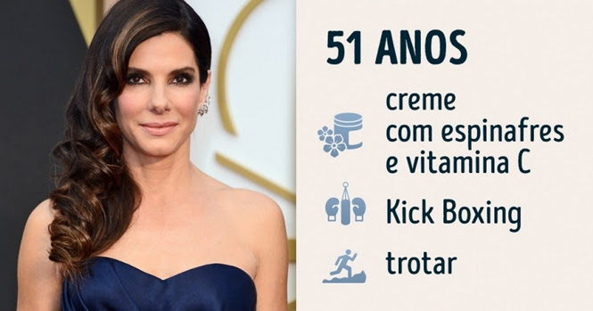 Segredos que as celebridades usam para manter a forma após os 40
