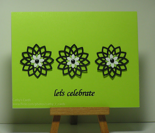 Black & Lime Flowers by cathroff