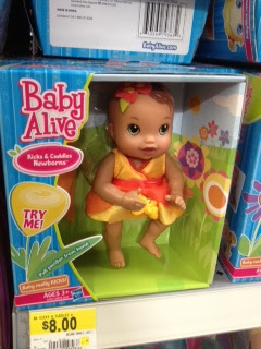baby alive Baby Alive Kicks and Cuddles Newborn Doll only $6 at Walmart!