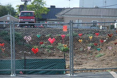 heart graffiti on fence