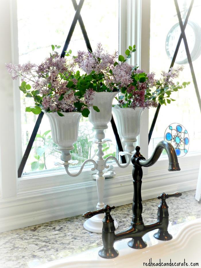 Lilac Candelabra Vase