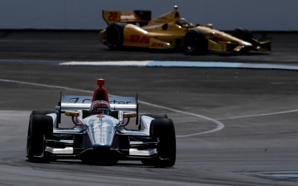Simon Pagenaud and Ryan Hunter-Reay - Grand Prix of Indianapolis