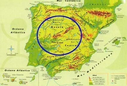 Cordillera Betica Mapa Fisico.Geografia 2º Bach Geografia Fisica