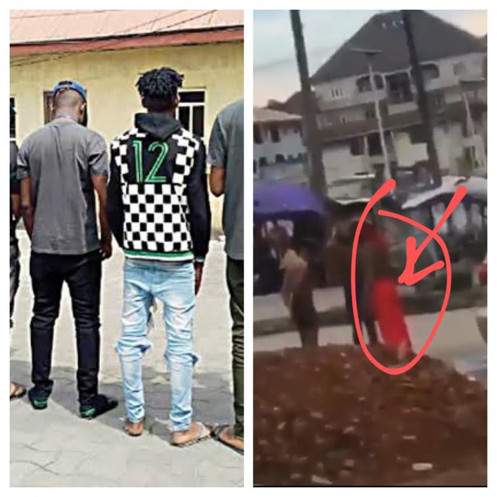 Witch Doctor And Yahoo Boys Caught Bathing Naked Early Morning In The Middle Of The Road - Video