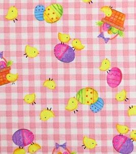 Little chicks on pink gingham at Joann.com :) #Easter #eggs