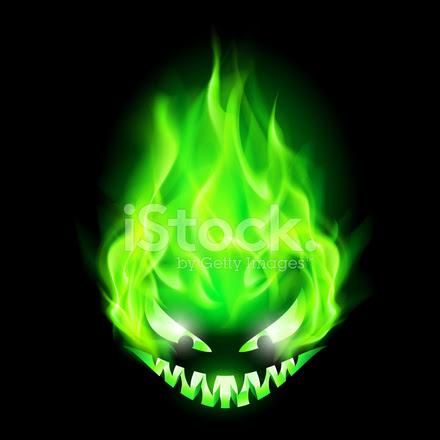 28792364 fiery monster head