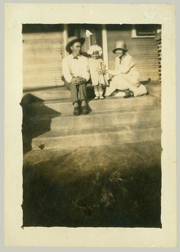 Trio on steps