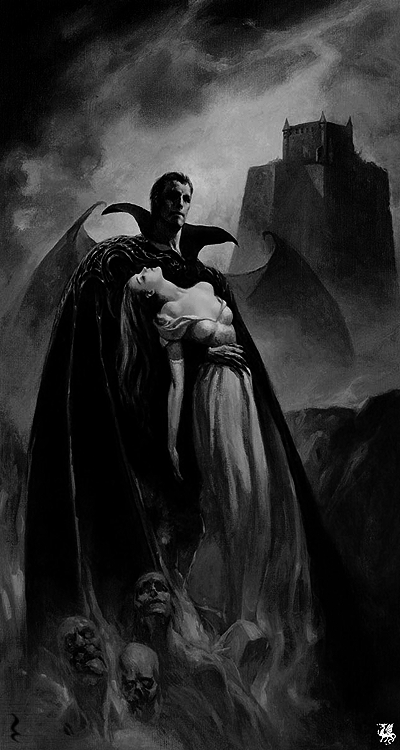 darkestdee:  Source | ^(OvO)^  Are vampires real? Do they suck people's blood? Do sleep during the day, only to wake up at night? Do they sleep in coffins? Do they exist? They do if you want them to.