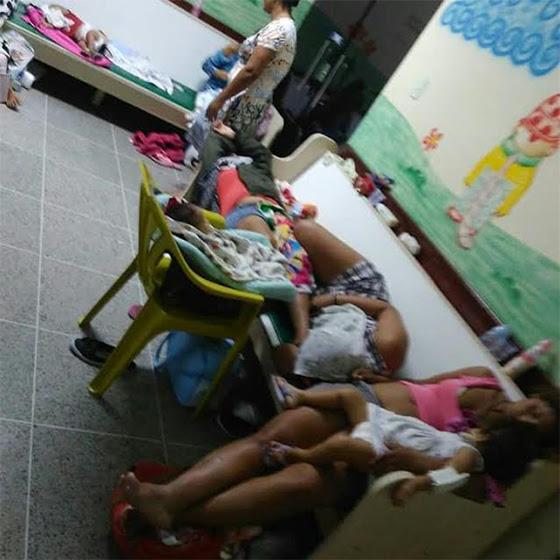 Hospital Arlinda Marques crianças em cadeiras mai2017