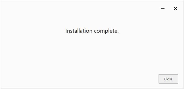 La instalación se ha completado
