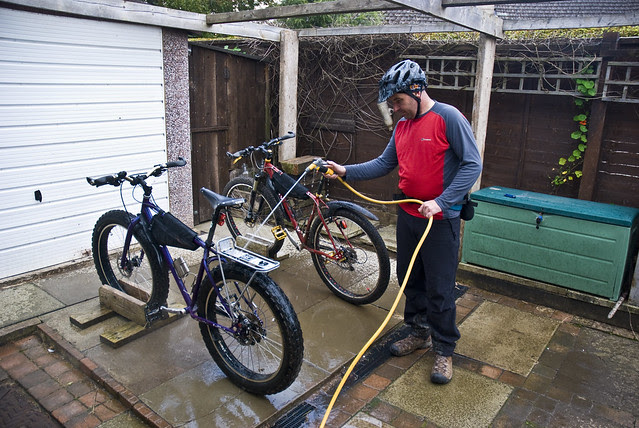 Washin the bikes