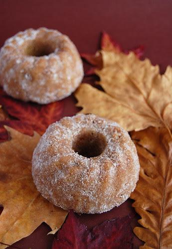 Cinnamon sugar-coated maple apple cakes / Bolinhos de maçã e xarope de bordo com cobertura de açúcar e canela