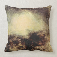 Joseph Mallord Turner - Shade and darkness - The e throwpillow