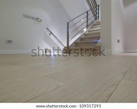 Laminate Floor In Modern Apartment Stock Photo 109317293 ...