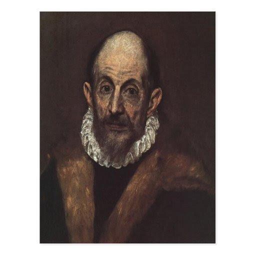 Download Summary Description El Greco self-portrait, 1604 D Postcard | Zazzle