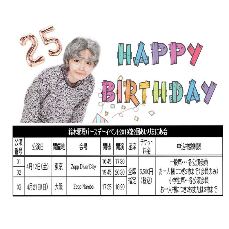 Suzuki Airi 2019 Birthday Event