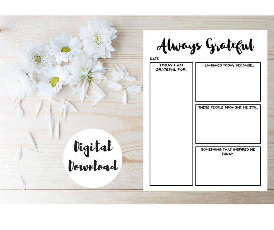 Daily Planner Insert - Gratitude Journal - Printable Day Planner ...