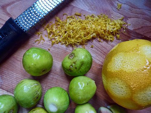 figs and orange zest