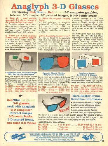 Anaglyph 3-D Glasses