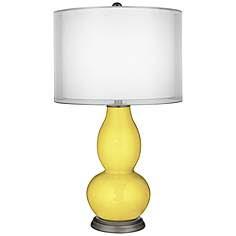 Lemon Twist Sheer Double Shade Double Gourd Table Lamp